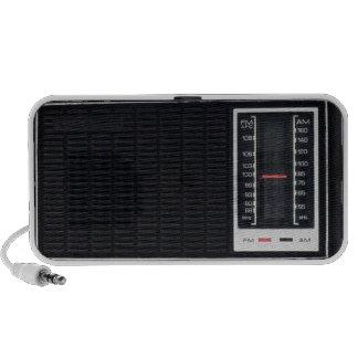 Haut-parleur par radio noir vintage