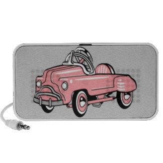 Haut-parleur portatif - rétro voiture rose OrigAud