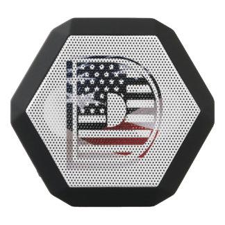 Haut-parleurs Noirs Sans-fils Motif de drapeau des Etats-Unis d'initiale de