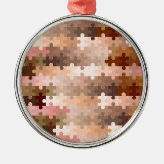 Haut-Ton-Laubsägen-Stücke Rundes Silberfarbenes Ornament