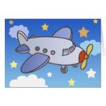 Hautes cartes de voeux volantes d'avion