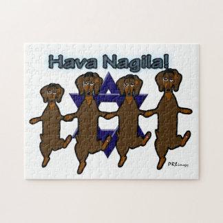 Hava Nagila Dachsunds-Puzzlespiel