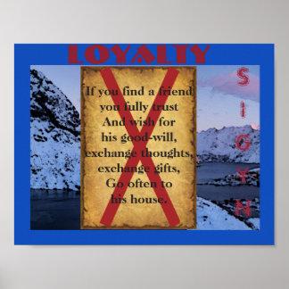 Havamal Loyalität Poster