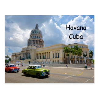 Havana, Kuba, das Hauptstadts-Gebäude, Habana Postkarte