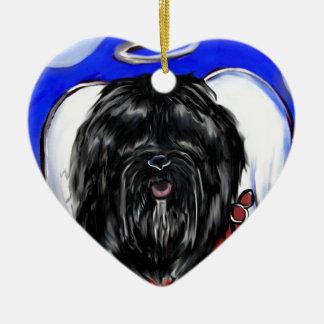 Havana-Seide-Hund Keramik Ornament