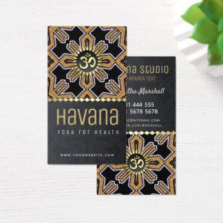 Havana-Yoga-Studio-Schwarz-GoldVisitenkarte Visitenkarte