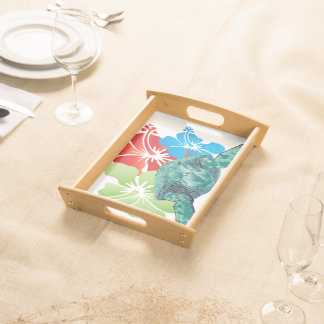 Hawaii-Blumen Tabletts