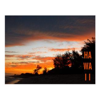 Hawaii, dunkel postkarte
