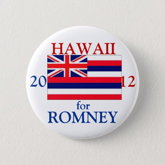 Hawaii für Romney 2012 Runder Button 5,7 Cm