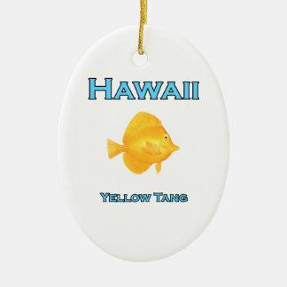 Hawaii gelbes Tang Keramik Ornament
