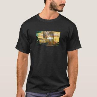 Hawaii kettete Sonnenuntergang-Grafik los T-Shirt