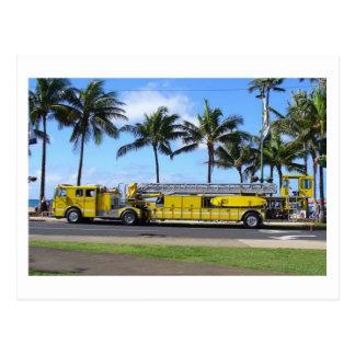 Hawaii-Löschfahrzeug-Postkarte Postkarte