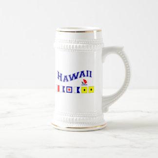 Hawaii mit Seeflaggen Bierglas