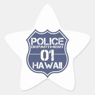 Hawaii-Polizeidienststelle-Schild 01 Stern-Aufkleber