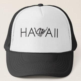 Hawaii Skeleton Shaka - schwarzer u. weißer Truckerkappe