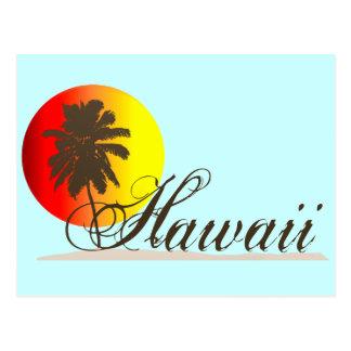 Hawaii-Sonnenuntergang-Andenken Postkarte