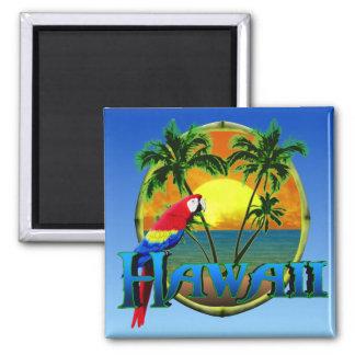 Hawaii-Sonnenuntergang Quadratischer Magnet