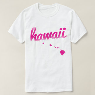 Hawaii-Staat im Rosa T-Shirt