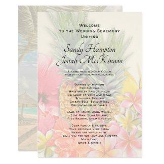 Hawaiische Blumen-Ananas-kurzes Zeremonie-Programm Karte