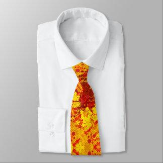 Hawaiische Druck-Hibiskus-Blumen rot Krawatten