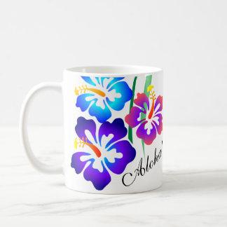 Hawaiische Hibiskus-Blumen Aloha Kaffeetasse