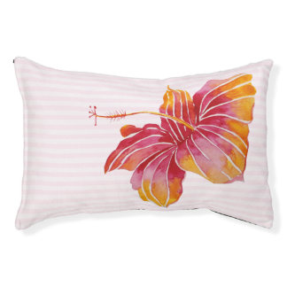 Hawaiische Hibiskus-Blumen-Innenhundebett - klein Haustierbett
