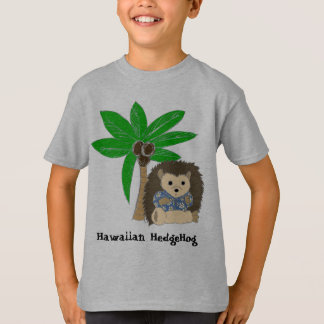 Hawaiische Igels-und Palme-KinderShirts T-Shirt