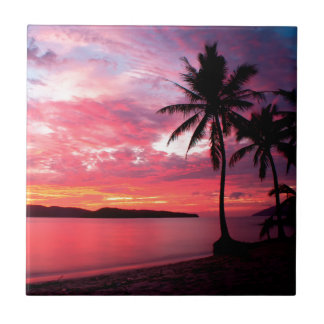 Hawaiische Insel-Sonnenuntergang Keramikfliese