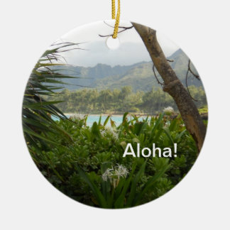 Hawaiische Lagune-Weihnachtsverzierung Keramik Ornament