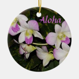 Hawaiische Orchideen Weihnachtsverzierung Keramik Ornament