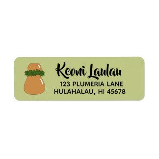 Hawaiische Rücksendeadressen-Aufkleber Ipu Hula