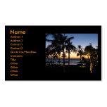 Hawaiische Sonnenuntergang-Visitenkarten