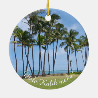 Hawaiische Weihnachtsverzierung Keramik Ornament