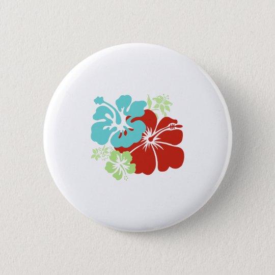 Hawaiischer Hibiskus Runder Button 5,7 Cm
