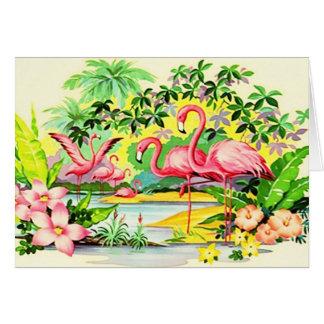 Hawaiischer Mahalo danken Ihnen Vintage Karte