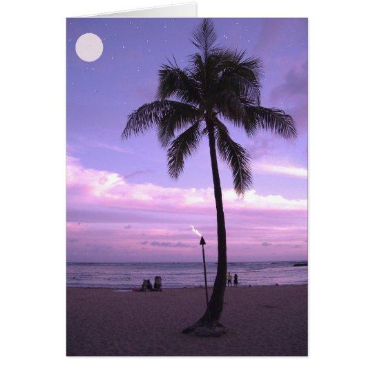 Hawaiischer Mond Grußkarte