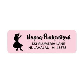 Hawaiischer Rücksendeadressen-Aufkleber Hula