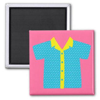 Hawaiischer Shirt-Magnet Quadratischer Magnet