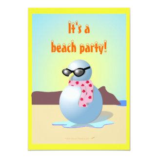 Hawaiischer Snowman-lädt lustiges Strand-Party 12,7 X 17,8 Cm Einladungskarte