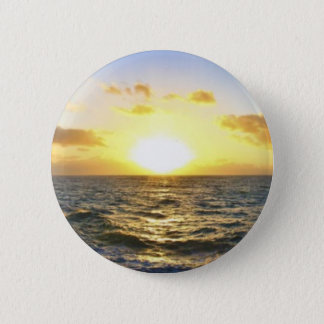 Hawaiischer Sonnenuntergang Runder Button 5,7 Cm