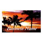 Hawaiischer Sonnenuntergangdruck Visitenkartenvorlage