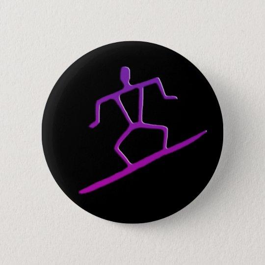 Hawaiischer Surfer-Petroglyphe-Knopf Runder Button 5,1 Cm