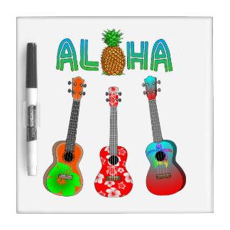 Hawaiischer Ukulele Aloha Hawaii Memoboard