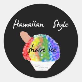 Hawaiisches Art-Rasur-Eis-runder Aufkleber