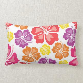 Hawaiisches Hibiskus-Blumethrow-Mehrfarbenkissen Lendenkissen