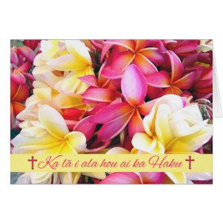 Hawaiisches Ostern, protestierender Segen Grußkarte