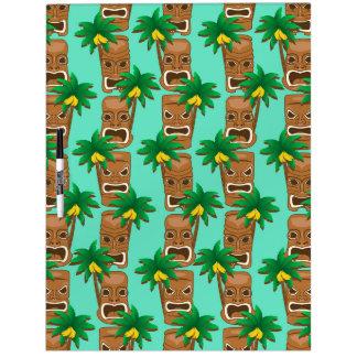 Hawaiisches Tiki Wiederholungs-Muster Memoboard