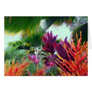 Hawaiisches tropisches Weihnachtsthema Karte