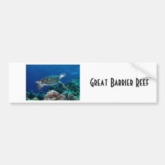 Hawksbill Meeresschildkröte-Great Barrier Reef Autoaufkleber