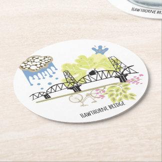 Hawthorne Brücken-Portland-Untersetzer Runder Pappuntersetzer